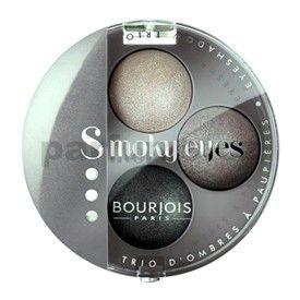 Bourjois Smokey Eyes oční stíny odstín 01 Gris Dandy (Smokey Eyes Trio Eyeshadow) 4,5 g