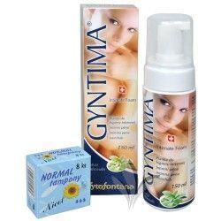 Herb Pharma Gyntima intimní pěna 150 ml + tampony Normal 8 ks ZDARMA