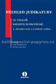 Eva Barešová, Petr Baudyš: Přehled judikatury ve věcech katastru nemovistostí cena od 574 Kč