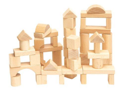 Woody Stavebnice kostky přírodní cena od 230 Kč