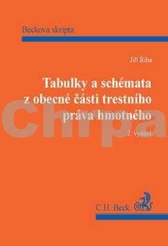 Jiří Říha: Tabulky a schémata z obecné části trestního práva hmotného, 2. vydání cena od 374 Kč