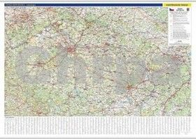 Kartografie PRAHA Česká republika nástěnná mapa cena od 539 Kč