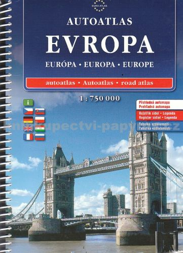 Autoatlas Evropa 1:750 000 cena od 576 Kč
