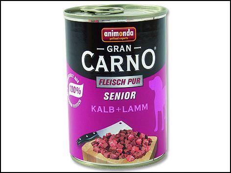 ANIMONDA Gran Carno Senior telecí + jehněčí 400 g