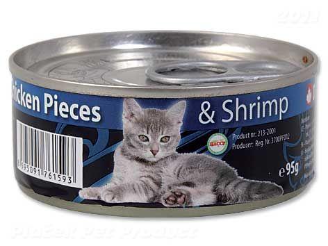 Ontario Junior Chicken Pieces + Shrimp 95 g cena od 32 Kč