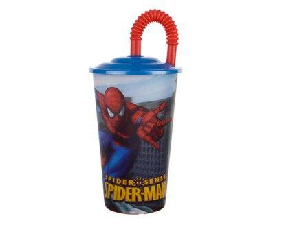 BANQUET pohárek 600ml s víčkem, Spidermann L cena od 69 Kč