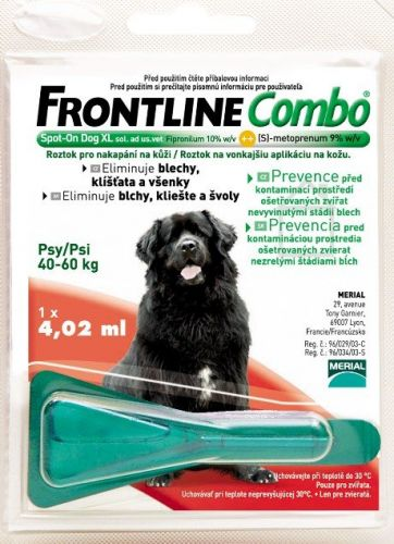 Merial Frontline Combo Spot on Dog XL 1x1 pipeta 4.02 ml