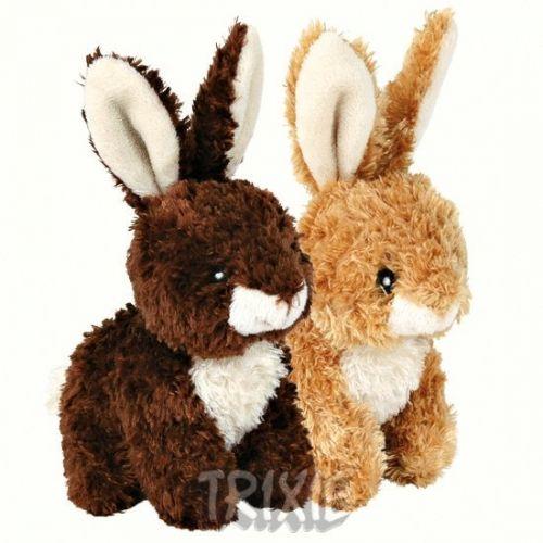 Trixie Plyšový králíček sedící 15 cm