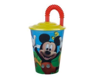 BANQUET pohárek 450 ml s víčkem, Mickey L cena od 59 Kč