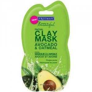Freeman Jílová pleťová maska s avokádem a ovsem (Facial Clay Mask Avocado & Oatmeal) 15 ml