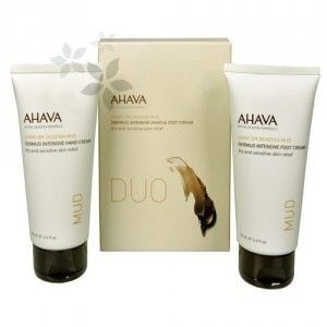 Ahava Duo set pro péči o ruce a nohy s minerálním bahnem (Dermud Intensive Hand & Foot Cream)