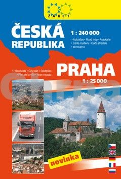 Autoatlas Česká republika 1:240 000 + Praha 1:25 000 cena od 130 Kč