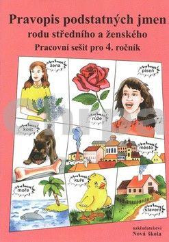 Polnická Marie: Pravopis podstatných jmen rodu středního a ženského Pracovní sešit pro 4. ročník cena od 26 Kč