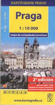 Kartografie PRAHA Praha mapa turistických zajímavostí cena od 43 Kč