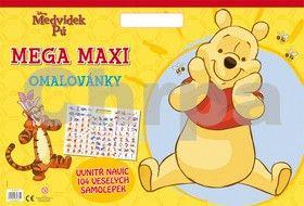 Walt Disney: Medvídek Pú - Mega maxi omalovánky cena od 0 Kč