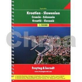 Freytag-Berndt AA Chorvatsko-Slovinsko A4 atlas 1:150 000 cena od 342 Kč