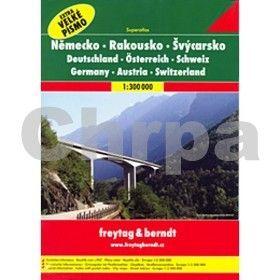 Freytag-Berndt Německo Rakousko Švýcarsko 1:300 000 cena od 433 Kč