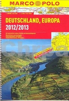 Marco Polo Německo, Evropa/atlas-spirála 1:300 000 MD cena od 260 Kč