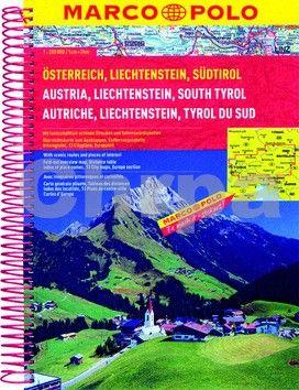 Rakousko, Liechtenstein, Südtirol/atlas-sešit 1:200 000 MD cena od 233 Kč