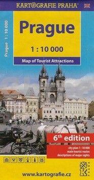 Kartografie PRAHA Prague - Mapa turistických zajímavostí 1:10 000 cena od 40 Kč