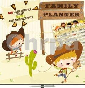 Plánovací Cowboys, 30 x 30 cm cena od 85 Kč