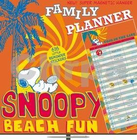 Plánovací Snoopy Family Planner - nástěnný kalendář cena od 175 Kč