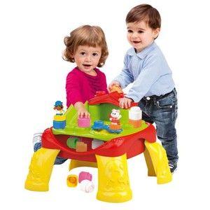 Clementoni Clemmy Veselý hrací stolek s kostkami a zvířátky