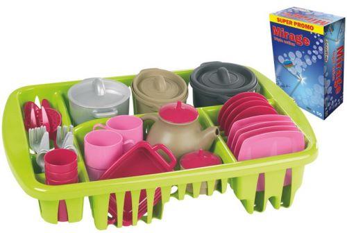 ECOIFFIER Velká sada nádobí s odkapávačem cena od 355 Kč