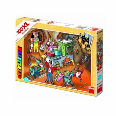 Dino Puzzle Čtyřlístek návštěva v podzemí 100 dílků cena od 166 Kč