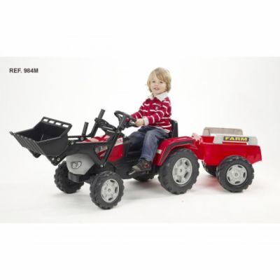 Falk Traktor McCormik šlapací s přední lžící a valníkem
