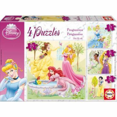 Educa Puzzle Disney Princezny 4v1 12,16,20,25 dílků cena od 156 Kč