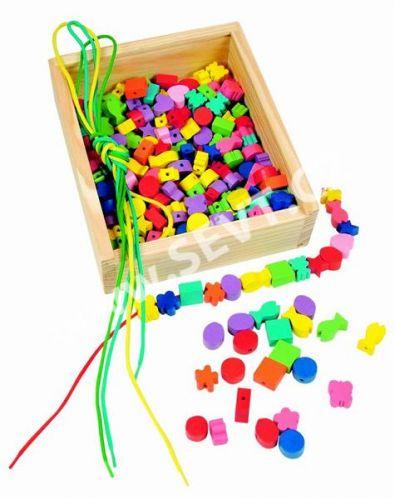 WOODY Dřevěná krabička Navlékací perle cena od 274 Kč