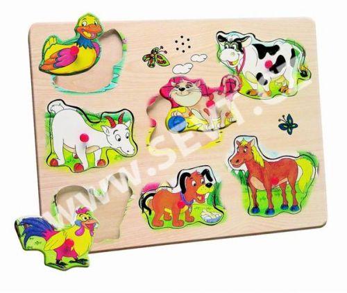 WOODY Muzikální puzzle Domácí zvířata cena od 248 Kč