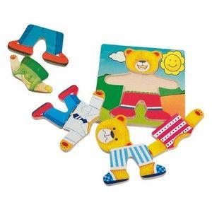 Woody Puzzle obleč medvěda (8591864900107) cena od 107 Kč