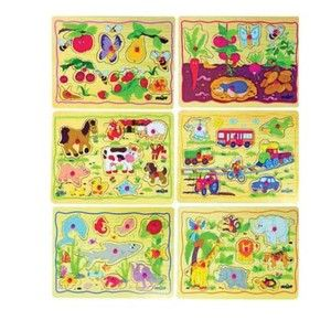 Woody Puzzle na desce - Dětské motivy (8591864902521)
