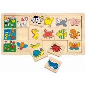 Woody Puzzle na desce Mořský koník (8591864903221)