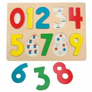 Woody Puzzle na desce Číslice s beruškami cena od 383 Kč