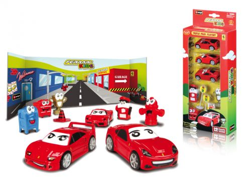 BBurago Ferrari Kids 3ks auta s doplňky v krabici cena od 0 Kč