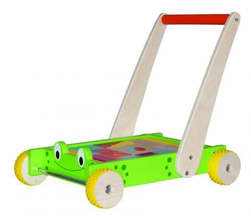 Woody Vozík s kostkami a madlem Žába cena od 539 Kč