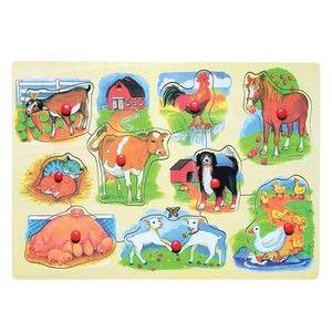 Woody Puzzle na desce Farma s mláďaty cena od 84 Kč