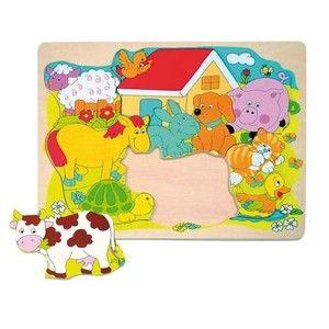 Woody Puzzle na desce Veselá domácí zvířátka cena od 118 Kč
