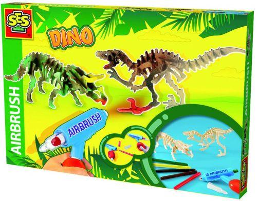 SES Dřevění dinosauři se stříkací pistolí cena od 0 Kč