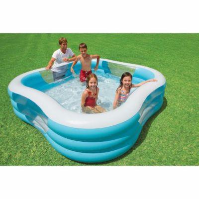 Intex Bazén nafukovací čtverec s okénky, 3kruhový cena od 725 Kč