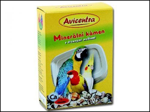 Avicentra Blok minerální + drcené mušle pro papoušky 1 ks