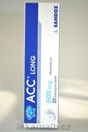 ACC Long 600 mg 20 tablet cena od 135 Kč