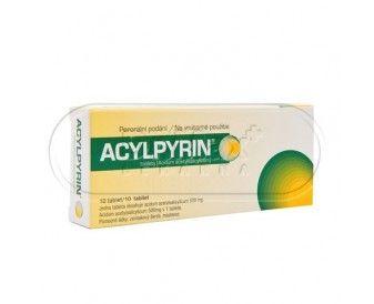 Acylpyrin 500 mg 10 tablet cena od 25 Kč