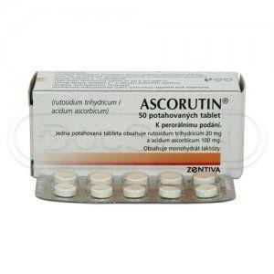 Ascorutin 50 tablet cena od 40 Kč