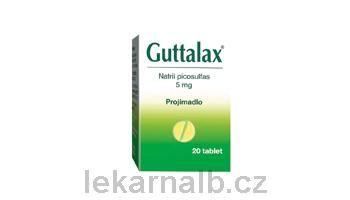 GUTTALAX 5 mg 20 tablet cena od 60 Kč
