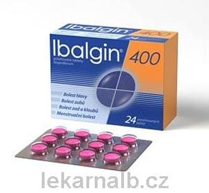 Ibalgin 400 400 mg 36 tablet cena od 55 Kč