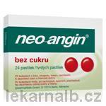 Neo-Angin bez cukru 24 pastilek cena od 92 Kč